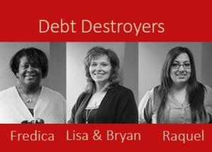 Debt Destroyers photo all participants-no logo